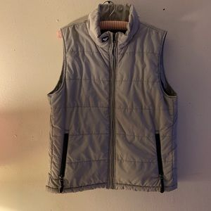 Roxy X-Series Puffer Zip Up Vest Size Large Gray